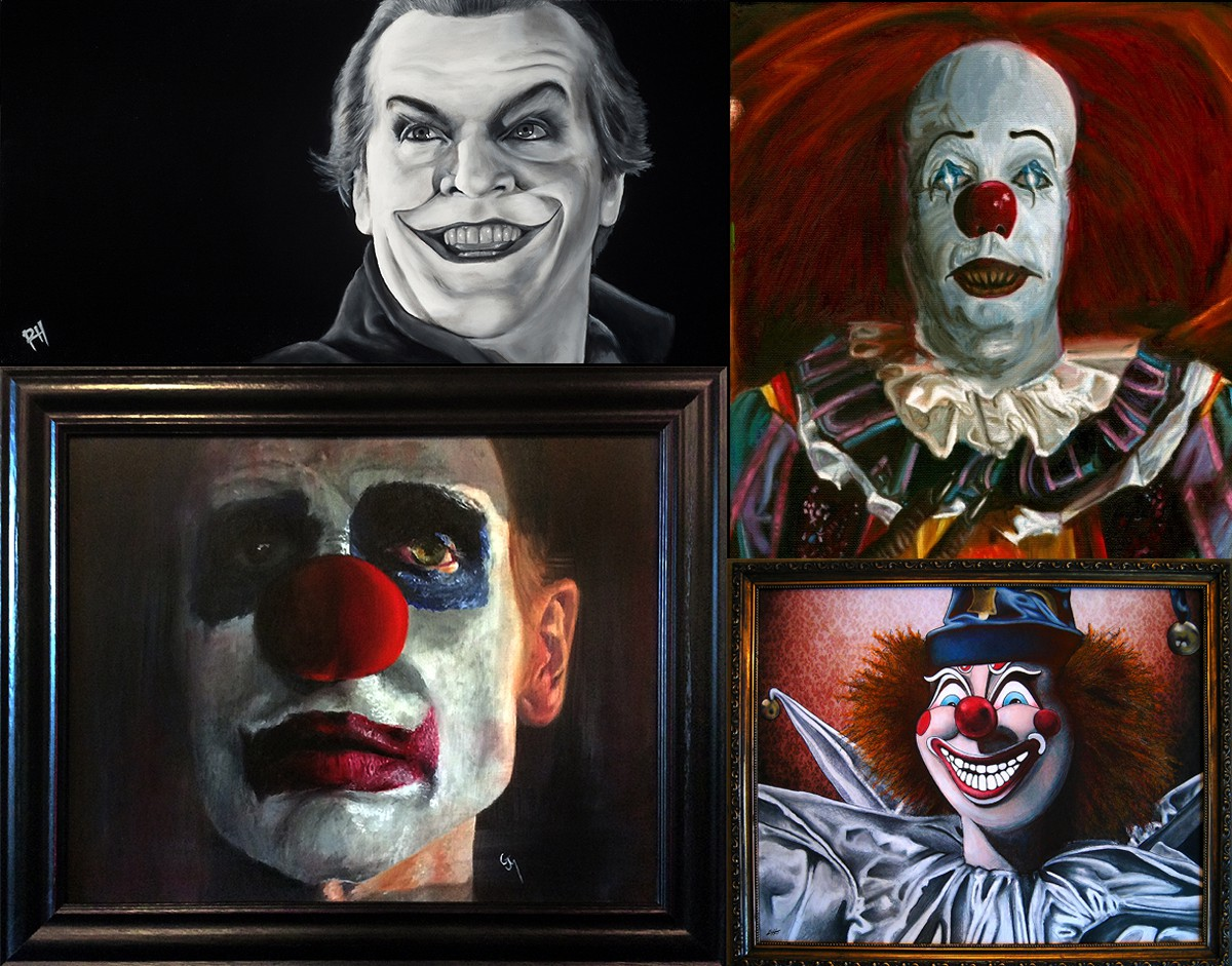 killer clowns com face your fears this scary clown art