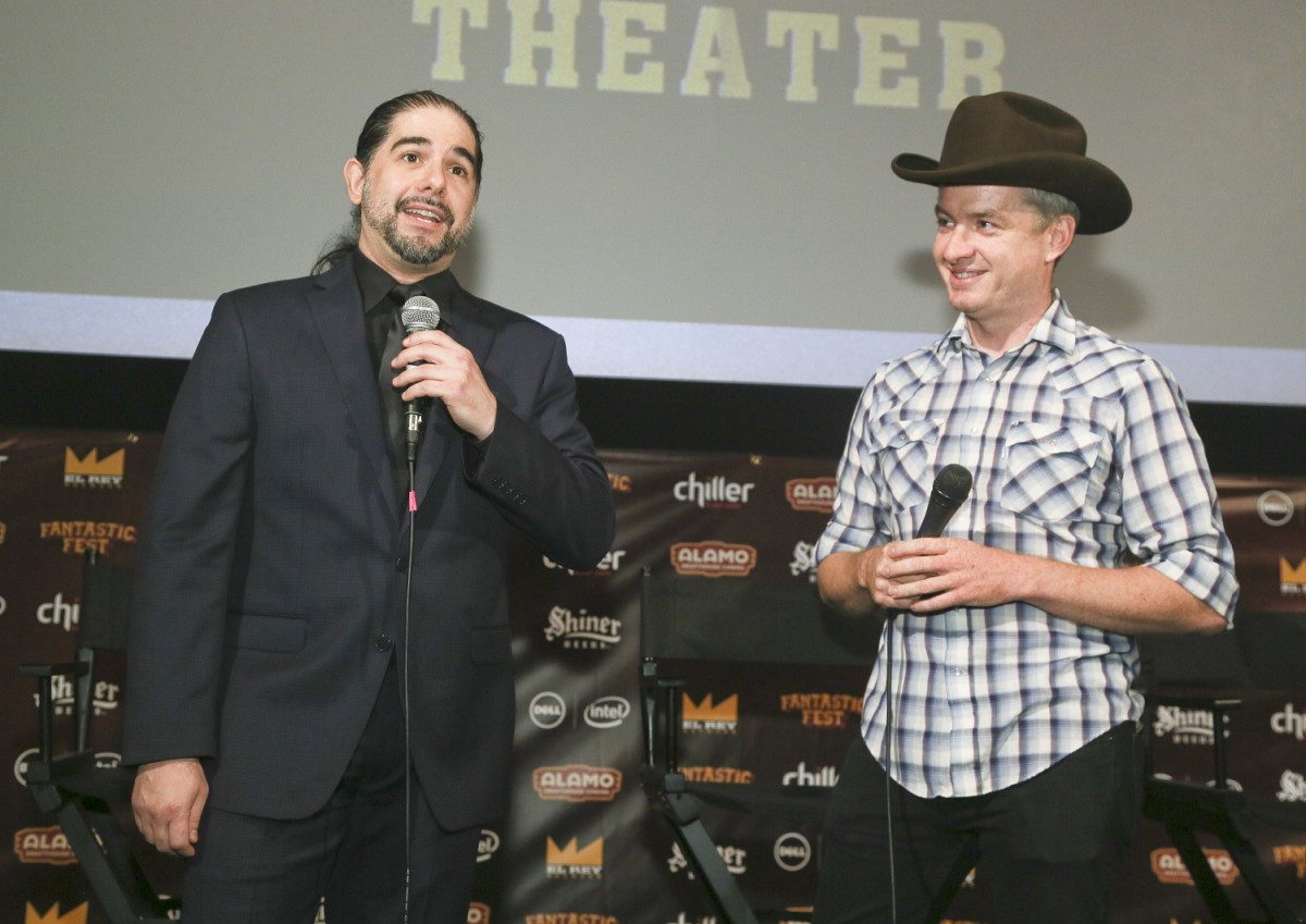 """""""Bone Tomahawk"""" world premiere during Fantastic Fest at the Alamo Drafthouse in Austin, Texas, on Thursday, Oct. 1, 2015. (Photo by Jack Plunkett)"""