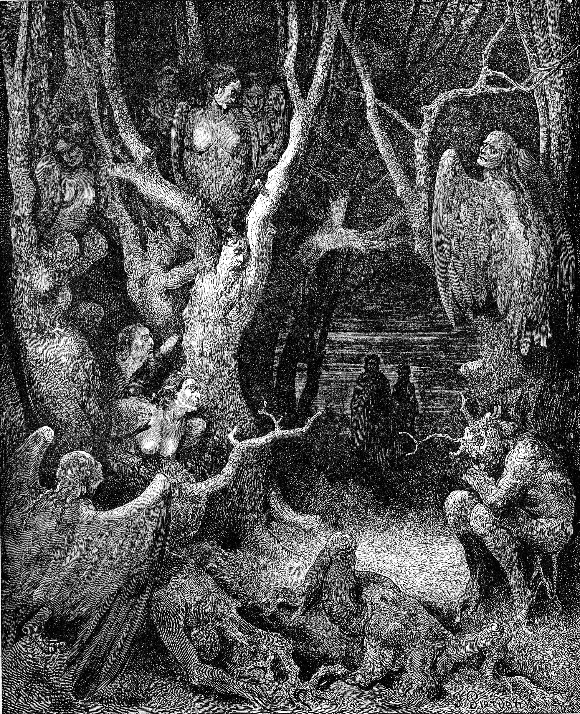 Dante's Inferno Wood of Self-Murderers