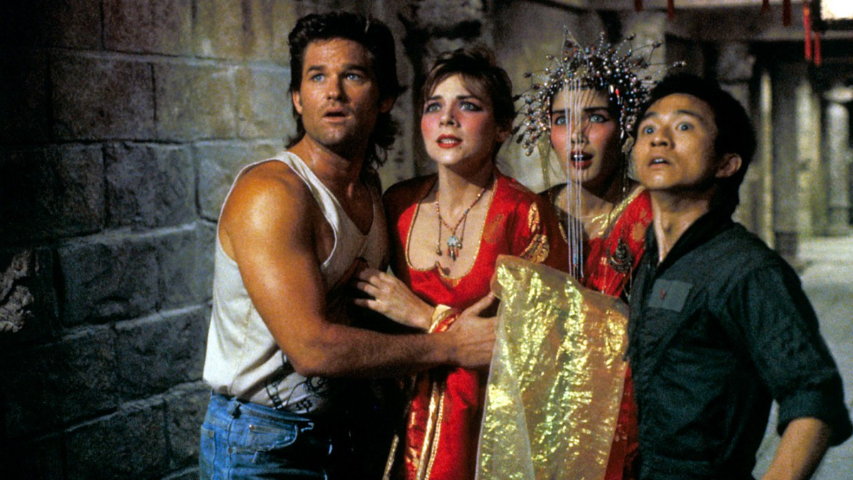 No Merchandising. Editorial Use Only. No Book Cover Usage. Mandatory Credit: Photo by Moviestore Collection / Rex Features (1553955a) Big Trouble In Little China, Kurt Russell, Kim Cattrall, Suzee Pai, Dennis Dun Film and Television