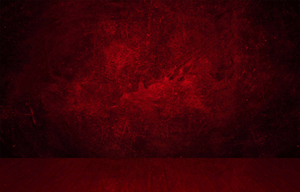 Wooden red floor and a red grunge wall in the background
