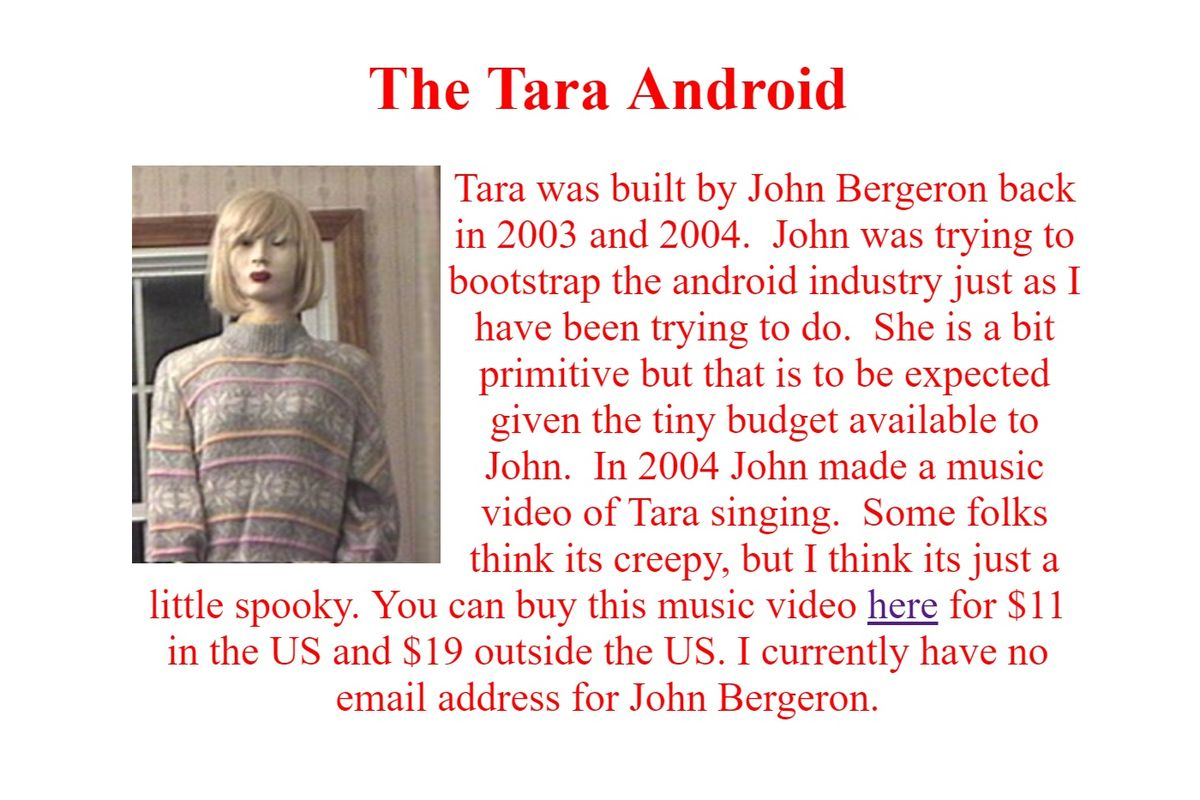 the horrifying history of tara the android the 13th floor