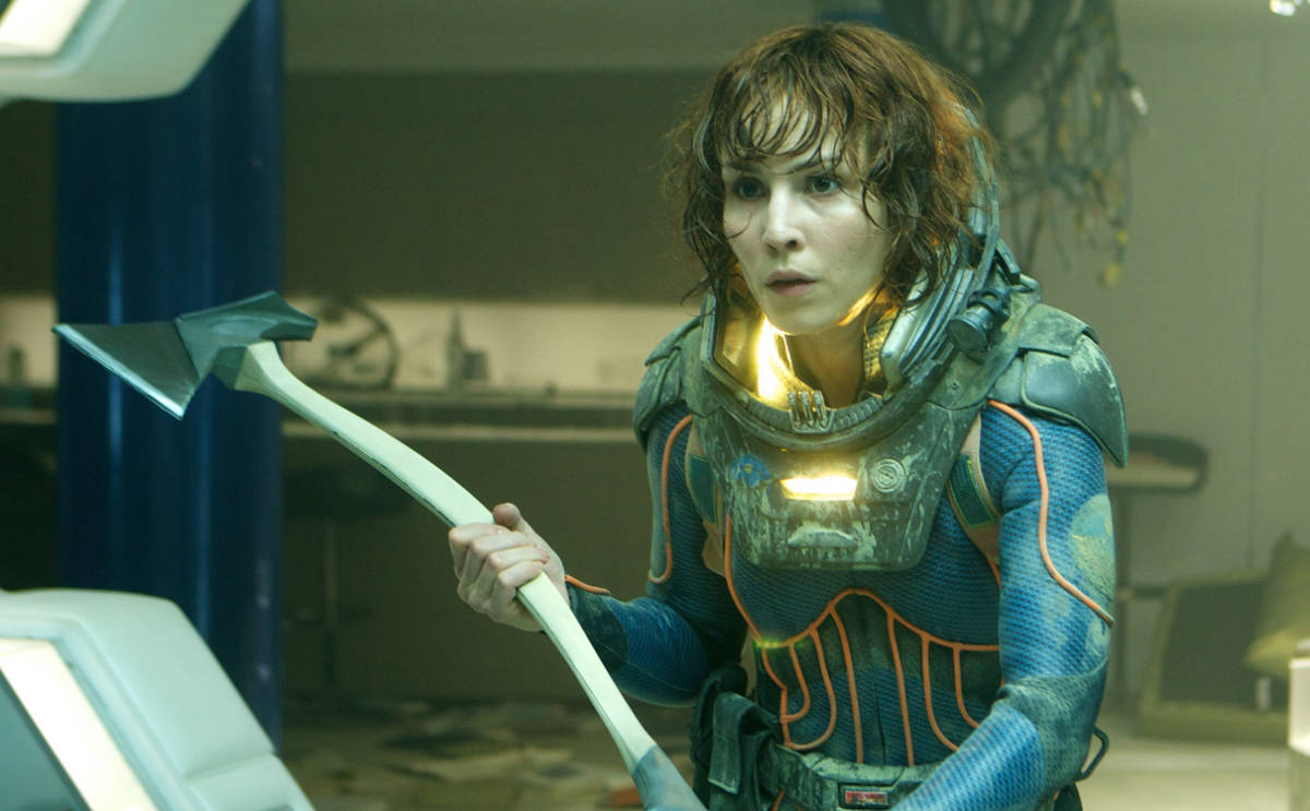 """THIS HANDOUT FILE HAS RESTRICTIONS!!! Noomi Rapace in """"PROMETHEUS,"""" a 2012  film directed by Ridley Scott.  NYTCREDIT:  20th Century Fox"""