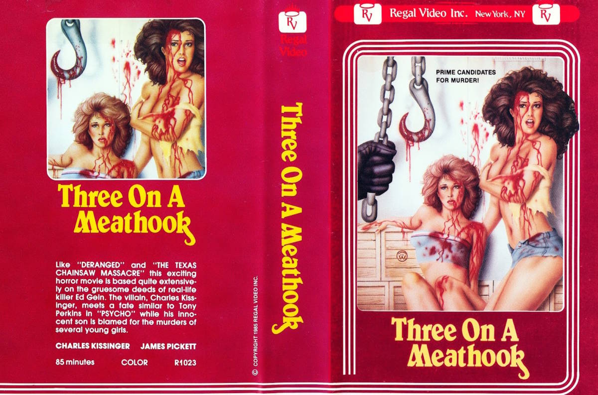 Three on a Meathook US Regal Video VHS