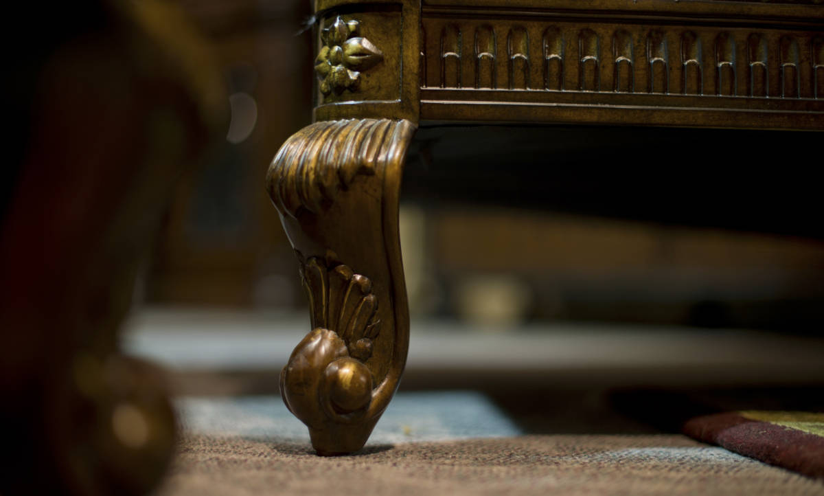 Close-up furniture feet