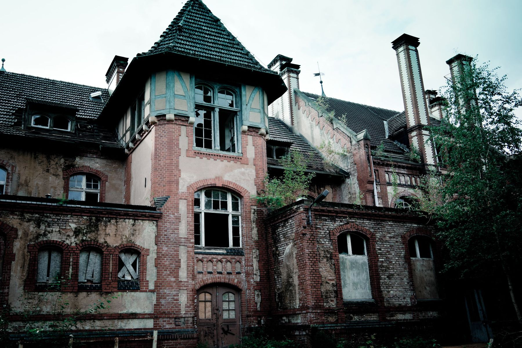 Spooky Abandoned Palace Building