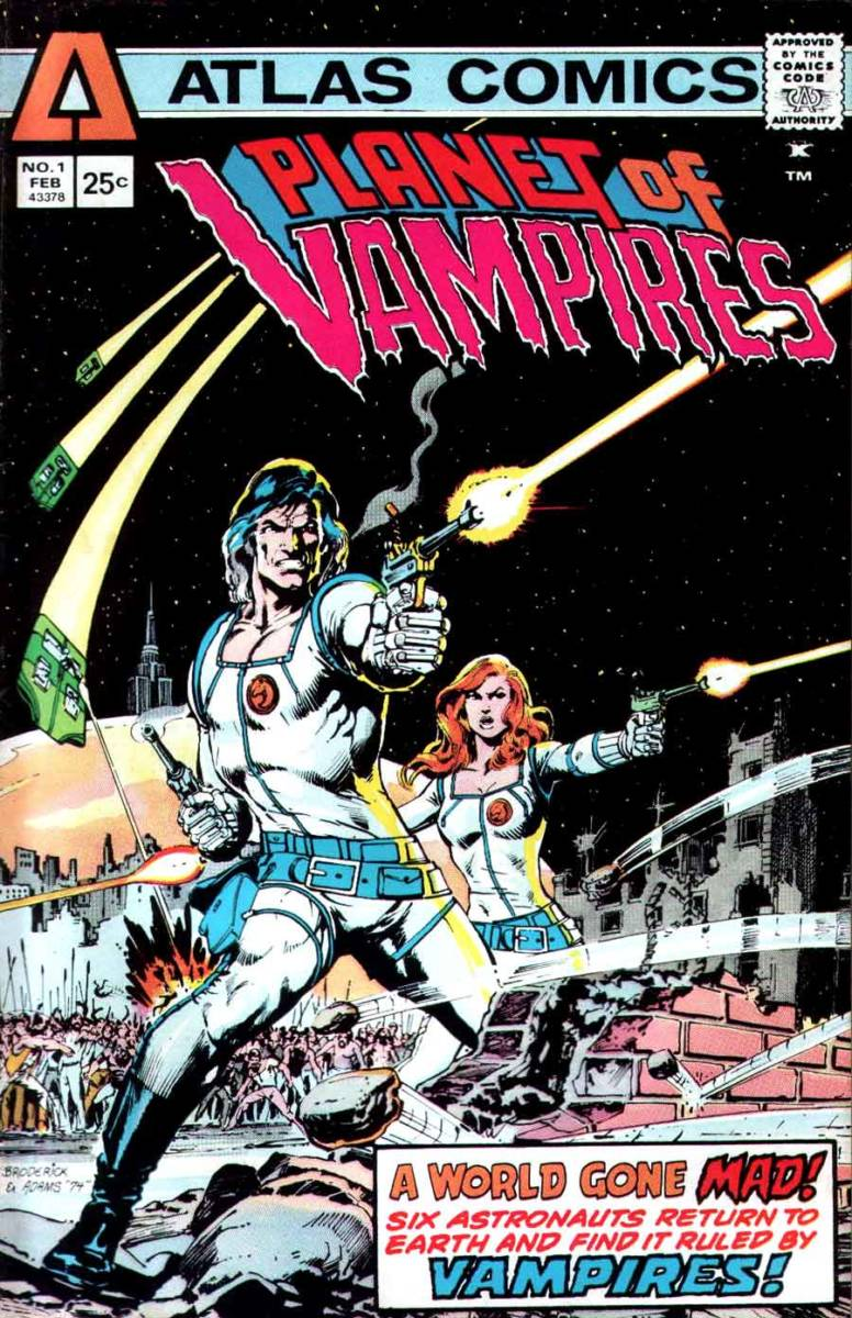 Art by Pat Broderick and Neal Adams