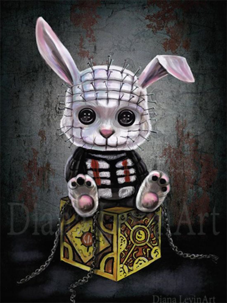 the creepy cute art of diana levin and ghoulish bunny studios the